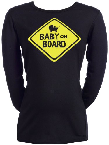 Spoilt Rotten - Baby On Board - Frauen Umstandstop Schwarz, XXL (Board-mutterschafts-t-shirt)