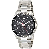 Casio For Men Black Dial Stainless Steel Band Watch - MTP-1374D-1A