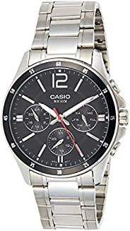 Casio Men's Dial Stainless Steel Band Watch - MTP-1374D-1