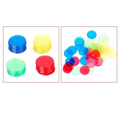 ROSENICE-400-Stck-Bingo-Chips-Zhler-Plastik-4-Farben
