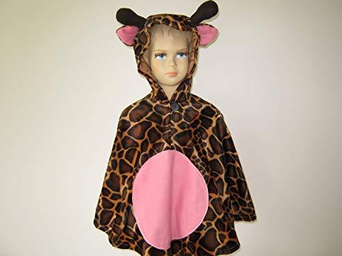 (fasching karneval halloween kostüm cape für kleinkinder aus fellimitat giraffe)