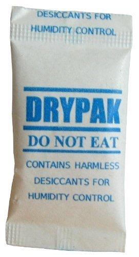 DRYPAK | 100 Stück Silicagel | Silicabeutel zu je 1 Gramm (regenerierbar)