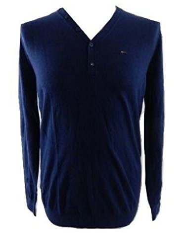 Tommy hilfiger -  camicia casual  - uomo blu navy x-large