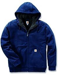 Carhartt 100072Colliston Sweat-shirt à capuche de travail en polaire brossée et doublure Sherpa