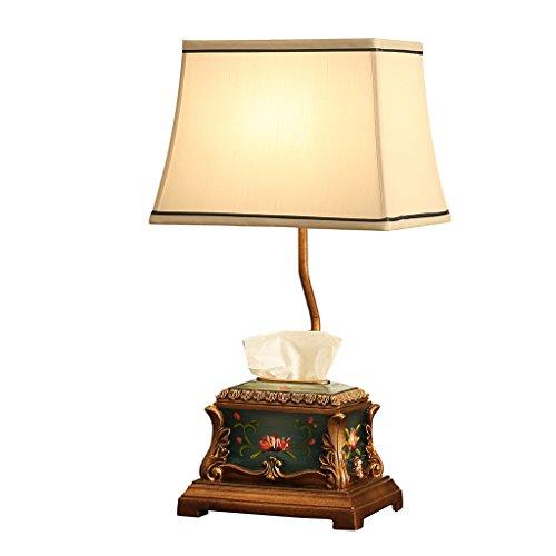 PLL Europäischen Stil Lampe Schlafzimmer Nachttischlampe Handgemalte Wohnzimmer Lampe Kreative Tissue Box Storage Storage Tischleuchte (Box-schatten-tischleuchte)