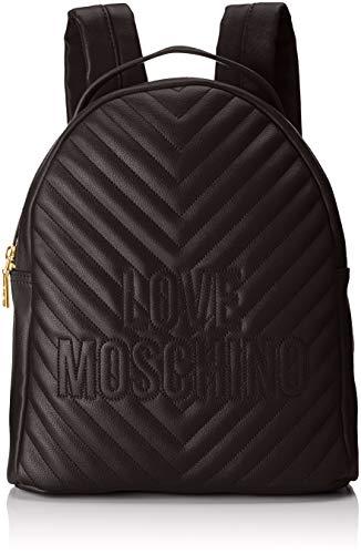 Love Moschino Borsa Quilted Pu - Borse a zainetto Donna, Nero, 12x31x25 cm (B x H T)