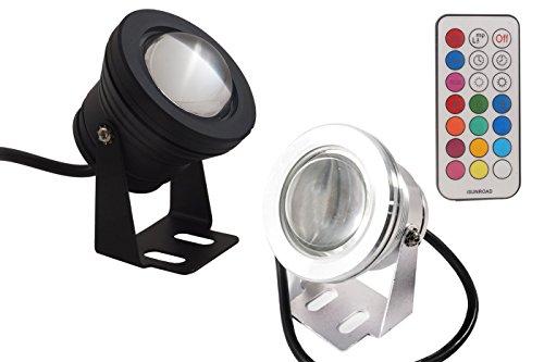 Foco led RGB subacuático para piscina o fuente, lámpara de colores, 10...