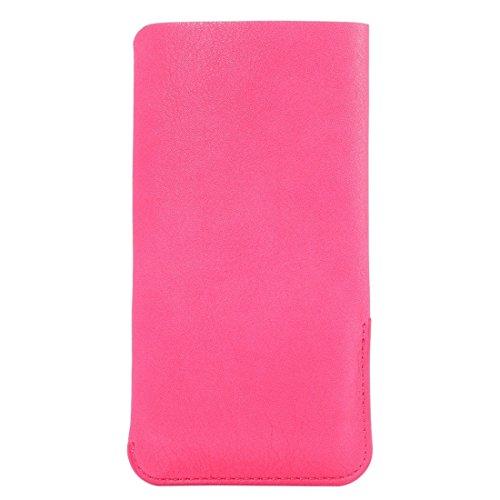 Wkae Case & Cover 5,7 pouces Universal Elephant peau Texture Vertical Style de Housse Sac avec fente pour carte pour iPhone 6 Plus & 6s Plus, Samsung Galaxy Note 5/4 / S7 Edge, Huawei, etc. ( Color :  Magenta
