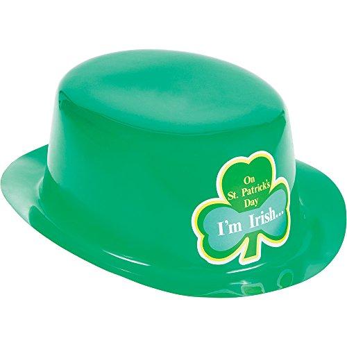 Creative Converting 12Stück St. Patrick 's Day grün Kunststoff Derby Hüte mit ()