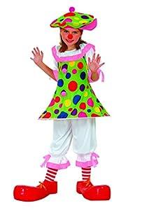 FIORI PAOLO-Payaso Monella disfraz niña Girls, multicolor, 7-9años, 61114.l