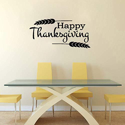 WandaufkleberHappy Thanksgiving Wohnkultur Pvc Kunst Wandaufkleber Schriftzug Worte 68,9 Cm * 33,4 Cm