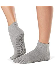 Toesox Ytoewtahgm, Calze per Yoga E Pilates Unisex – Adulto, Heather Grey, Medium