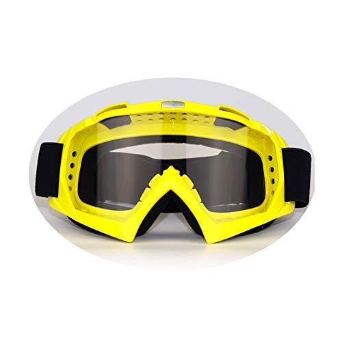 MaxAst Brille Winddicht Unisex Motorradbrille Motocross Arbeitsbrille Brillenträger Gelb Durchsichtig