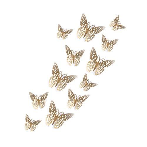 Wandaufkleber 12 Stücke Schmetterlinge Wand Aufkleber Decals Aufkleber Auf Der Wand Neue Jahr Zu Hause Dekorationen PVC Wand Aufkleber Für Kinder Zimmer L1211