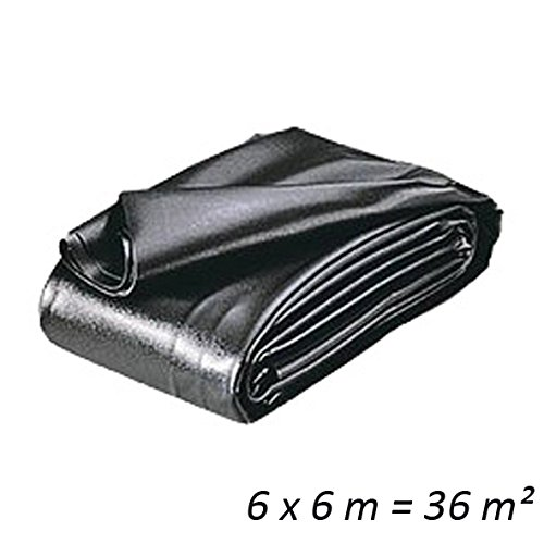 HEISSNER TF178-00 PVC Teichfolie, 0,5 mm, 5x6m = 30 qm, schwarz