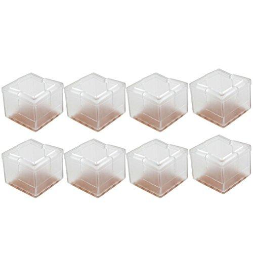 LEORX Stuhl Kappen 8ST Square Silikon Stuhl Bein Caps Füße Pads Möbel Tisch deckt (Keine Kratzer-möbel-pads)
