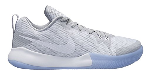 Nike Herren Zoom Live II Basketballschuhe, Weiß White-Wolf Grey-Pure Pla 101, 42.5 EU - Air Zoom Basketball