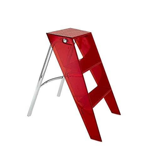 Kartell Upper 703071 Folding Stepladder Orange Red