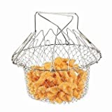#9: Multikart Chef Basket 12 In 1 Kitchen Tool For Cook, Deep Fry, Boiling Solid Steel Deluxe