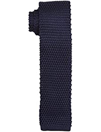 Tommy Hilfiger Tailored Knit tie TTSSLD17102, Cravate Homme, Bleu (Blau), Taille unique ( OS)