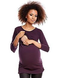 Zeta Ville - Premamá Top de lactancia a capas cuello redondo - para mujer - 318c