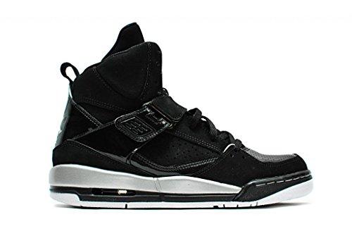 Nike Mädchen Jordan Flight 45 High Gg Basketballschuhe, Schwarz Schwarz / Silber / Weiß / Gelb (Schwarz / Mtllc SLVR-Wht-Mtllc GLD)