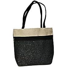 Women's Jute Handbag - Rich Attractive Black Colour