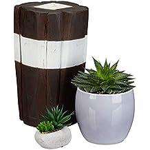 Icegrey Handgefertigt Treibholz Kerzenst/änder Dekorative Holz AST Vertikal Tisch Stehend Kerzenleuchter Kerzenst/änder 14x14x14cm