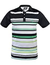 Golf polo para hombre beFresh NEGRO-VERDE (L)