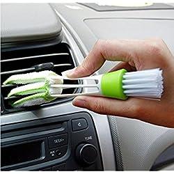 Cepillo de doble punta, con microfibra de limpieza para rejillas y plumero en la parte posterior, de Honeysuck