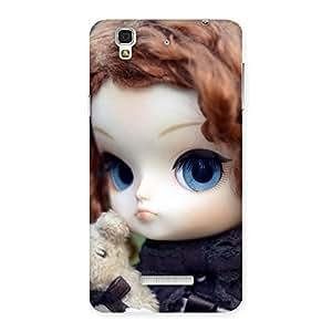 Impressive Teddy with Doll Back Case Cover for Yu Yureka