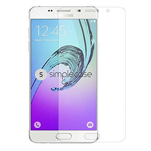 galaxy a5 2016 display Simplecase Samsung Galaxy A5 (2016) Premium Displayschutz-Glas - 9H Panzer-Glasfolie aus Echtglas / Verbundglas / Panzerglas - Twinpack - Transparent - 1 Stück