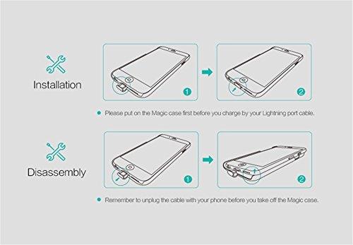 NILLKIN Coque de chargement sans fil Qi Coque récepteur pour iPhone 6Plus/6S Plus Magic Case Étui rigide fin doré