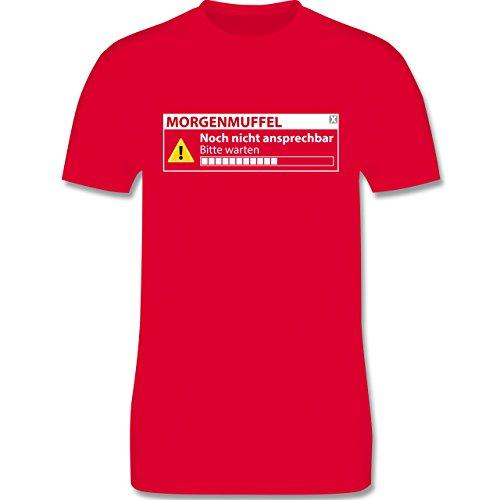 Sprüche - Morgenmuffel - Nicht ansprechbar - Herren Premium T-Shirt Rot