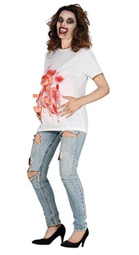 Guirca 88050 - Disfraz de Zombie encintado de Camiseta con recién Nacido, Color Blanco, Talla M