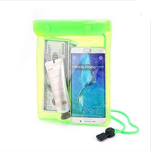 PANGUN Honana Hn-Tb42 Beach Wasserdichte Tasche Portable Travel Aufbewahrungstasche Touchscreen Responsive Handy Case-Grün