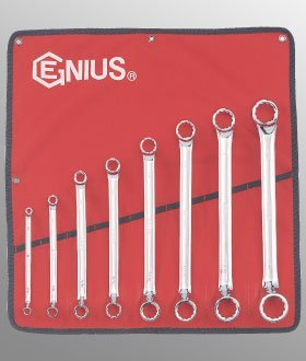 Offset Ring Wrench Set (8 Piece SAE Double Ended Offset Ring Wrench Set by Genius Tools)
