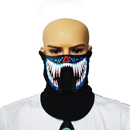 ostüm-Party-Maske, Panel, LED, EL-Maske mit Sound Active für Tanz, Party, Festival, Herren, FM-MA-02 (Kostüme Ma)
