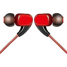 Ormosia auriculares dinámico Balanced Armature IEMS In Ear Auriculares HIFI DJ Studio Stereo Music auriculares (sin micrófono) monitores audiófilo para funda para iPhone Samsung MP3MP4reproductor de música (rojo)