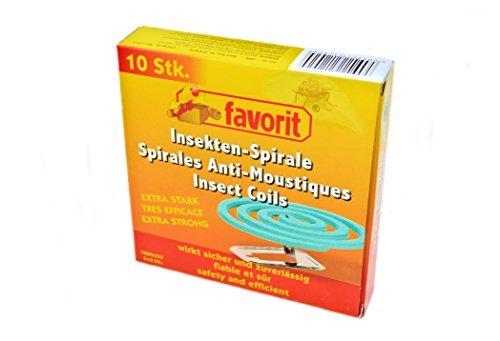 1 Packung mit 10 Anti-Mückenspiralen Mückenabwehr, extra stark