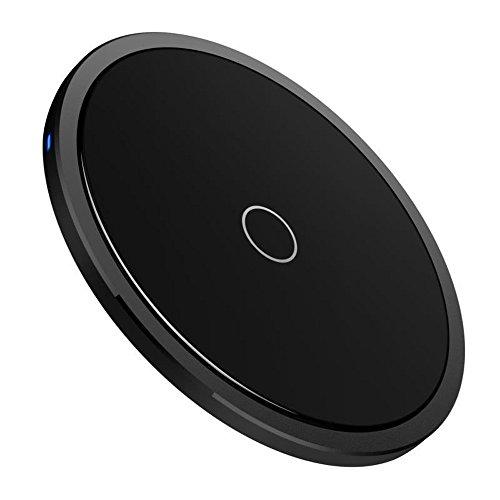 Gaddrt Drahtloses Ladegerät Fast Wireless Charger Schnellladestation for iPhone X/iPhone 8
