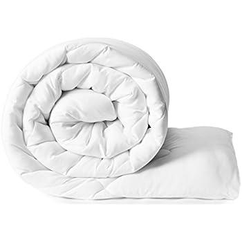 Amazon Brand - Solimo Microfibre Double Comforter - White