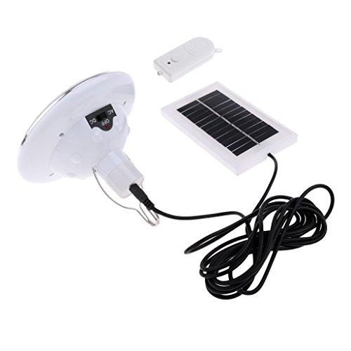 B Blesiya 22 Lampadina a LED a Energia Solare Telecomandate, Pannello Solare di Illuminazione Esterni Attrezzatura per Esterna Pesca, Tenda da Campeggio