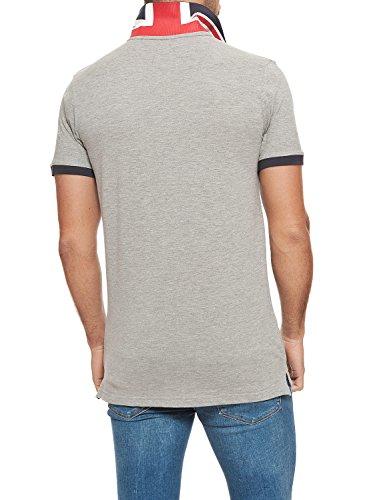 Lonsdale Herren Poloshirt Embroidered Logo Grey Melange