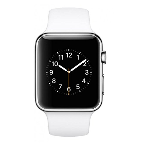 Preisvergleich Produktbild Apple Watch Sport 42mm Silver Aluminium Case with White