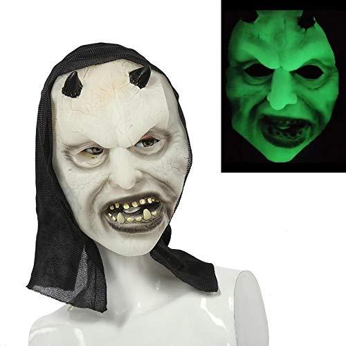 MROSW Haunted House of Horror Helle Halloween-Maske Furchtsame Grimassenmaske , 03
