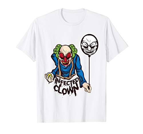 Dead Frauen Clown Kostüm - Horror Clown T Shirt Ballon Geschenk Männer Frauen Kinder
