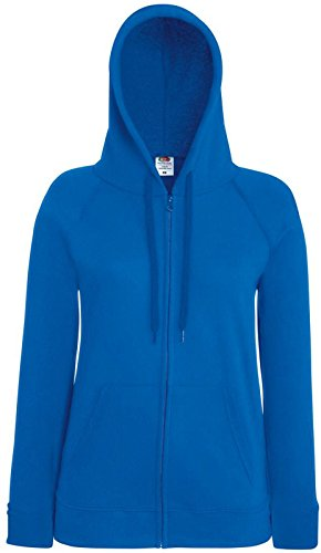 Fruit of the loom léger pour femme-coupe avec capuche et loisirs habillement sweat-shirt Bleu - Bleu roi