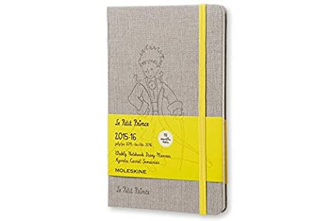 Moleskine 2015-2016 Le Petit Prince Edition Limitée Carnet de notes Semainier, 18 mois, Large, Couverture rigide (13,3 x 21,3cm)