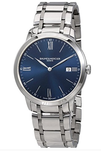 Baume et Mercier Classima Blue Dial Mens Watch MOA10382